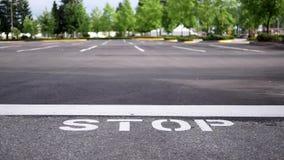 停车牌和线的行动 影视素材
