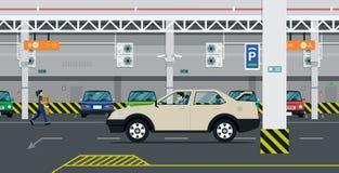停车 库存例证