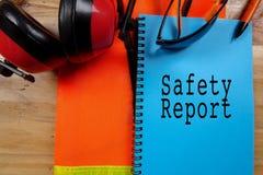 健康、安全&环境概念性与一般文本和st 免版税库存照片
