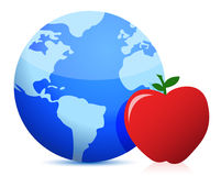 健康世界各地吃概念 库存照片
