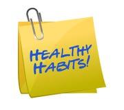 健康习性柱子 免版税库存照片