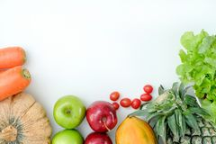 健康低气化器产品新鲜美菜用餐计划 免版税库存照片