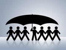 健康保险保护安全性社交 图库摄影