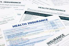 健康保险形式 免版税库存照片