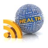 健康信息 向量例证
