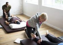 健康健康按摩训练概念 免版税库存图片
