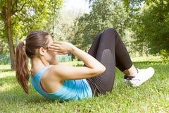 健康健身少妇 免版税库存照片