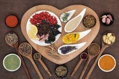 健康免疫促进的食物 库存照片