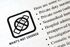 健康包括的保险没有 免版税图库摄影