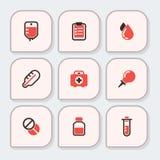 健康医疗应急传染媒介象医疗保健疗程药物实验室科学化学制品胶囊 皇族释放例证