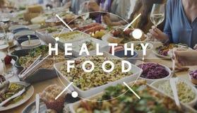 健康吃健康食物营养有机健康概念 图库摄影