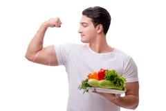 健康吃概念的人 库存照片