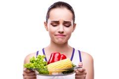 健康吃概念的妇女 库存照片