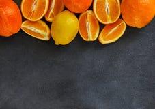 健康吃概念,新鲜的柑橘水果 库存照片