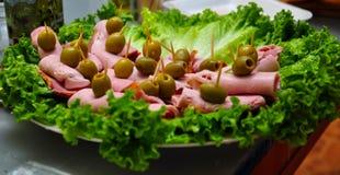 健康吃的快餐 免版税库存图片