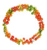 健康吃西红柿圈子形状 免版税库存图片
