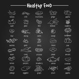 健康吃鱼和菜象 库存图片