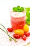 健康吃,西红柿汁 图库摄影