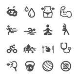 健康和健身象集合,传染媒介eps10 免版税库存照片