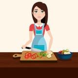 健康和可口食物 向量例证