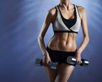 健康和强的健身模型 库存图片