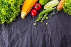 健康和素食主义者吃的概念 文本的空间 免版税库存照片