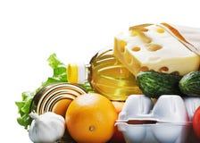 健康和长寿的新鲜食品 免版税库存图片