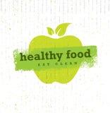 健康在纸板背景的食物有机Paleo样式概略的传染媒介设计元素 向量例证