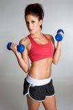 健康妇女锻炼 免版税库存照片