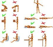 健康姿势 向量例证