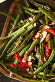 健康嫩煎的青豆 免版税库存图片
