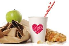 健康学校早餐或午餐 库存照片