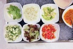 健康开胃菜早餐有机沙拉,蕃茄,  库存图片