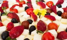 健康开胃菜用草莓 免版税库存图片
