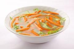 健康开胃菜-红萝卜汤 库存照片