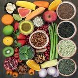 健康心脏的超级食物 库存照片