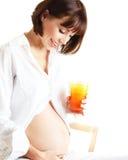 健康怀孕的夫人 免版税图库摄影