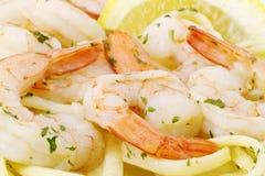 健康意大利面食海鲜 免版税库存图片