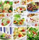 健康拼贴画的食物 库存图片