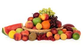 健康收集的果子 免版税库存图片