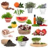 健康收集的食物 库存照片