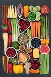 健康新鲜的超级食物 免版税库存图片