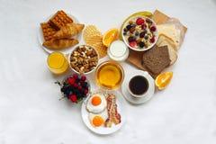 健康早餐心脏 免版税库存照片