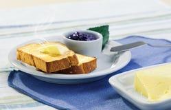 健康早餐用多士 库存照片