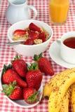 健康早餐食品的新鲜水果 库存照片