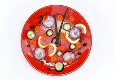 健康时钟的食物 库存照片