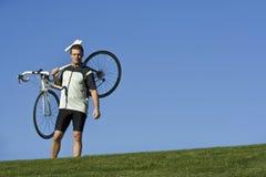健康有效的骑自行车的人 库存图片