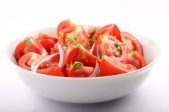 健康有机蕃茄沙拉 库存照片