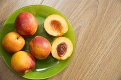 健康有机食品,健康果子桃子 库存图片