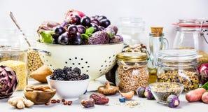 健康概念的食物 免版税库存照片